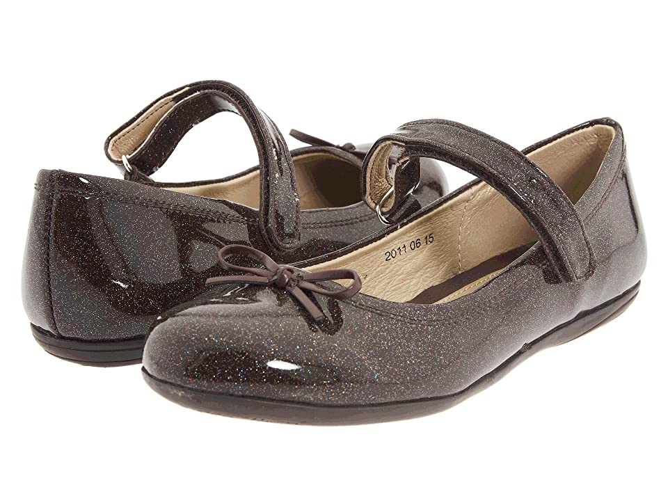 Kid Express Josie (Toddler/Little Kid/Big Kid) (Dark Brown Glitter Patent) Girl