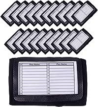 GSM Brands Quarterback (QB) Play Wristband - Adult Size - Pro Football Armband Playbook - 20 Pack (Black)