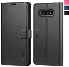 Galaxy S10e Case, TUCCH S10 Edge Wallet Case, PU Leather Phone Case [3 Card Slot] [Kickstand] Carry-All Case [RFID Blocking] [Flip Cover] Compatible with Galaxy S10e (2019 5.8 inch), Black