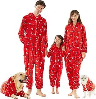 Family Christmas Matching Onesies Pajamas, Flannel Pjs Sets Xmas Winter Nightwear Sleepwear for Womens Mens Girls Boys Kids