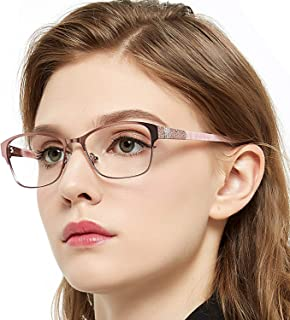 d2c9bdeef382 OCCI CHIARI Retro Fashion Metal Optical Non-prescription Eyewear Frames For  Women
