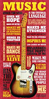 Culturenik Music as Inspiration Quotes Motivational Happiness Quotes Decorative Print (Unframed 12x24 Poster)