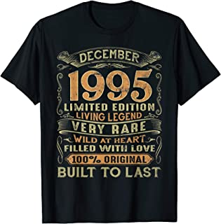 Vintage 24 Years Old December 1995 24th Birthday Gift Ideas T-Shirt