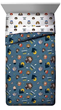 Jay Franco Home Twin Comforter-Bedding Features, Ron, Hermoine, Hagrid, and Dumbledore, Gray Harry Potter