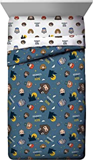 Jay Franco Potter is My Home Twin Comforter - Bedding Features Harry, Ron, Hermoine, Hagrid, and Dumbledore, Blue