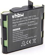 vhbw NiMH batterie 2000mAh (4.8V) pour appareil de médecine comme simulateur musculaire comme Compex 4H-AA2000, 941210, 941213