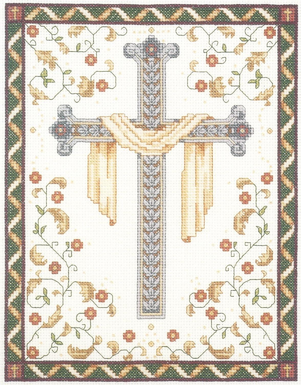 Janlynn 10235 Mesa Mall His Cross Counted Kit-8