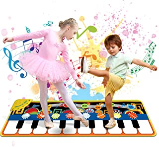 Tobeape® Piano Mat for 3-8 Year Old Kids Toddlers, 19 Musical Keyboard Playmat Music Touch Play Dance Mat, Birthday Christ...