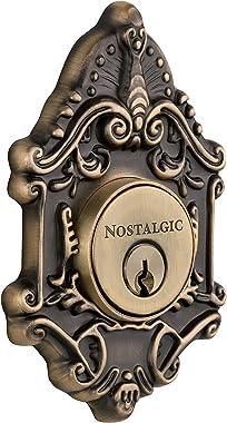 Nostalgic Warehouse Victorian Double Cylinder Deadbolt, Antique Brass