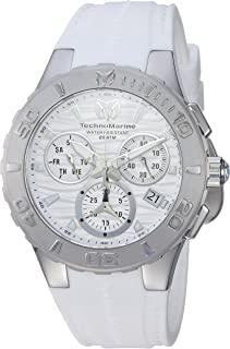 TechnoMarine Men 's ' Cruise ' Quartzステンレススチールand Silicone Casual Watch , Color : White ( Model : tm-1150