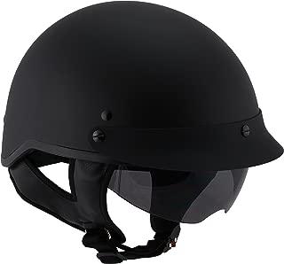 Milwaukee Performance Helmets Unisex-Adult Half Momentum Helmet (Matte Black, X-Small)