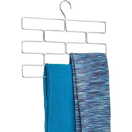 InterDesign Trio cintre pour leggings, rangement suspendu en métal pour écharpes et cravates, porte-foulards, argenté