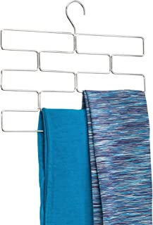 InterDesign Trio Organizador de pañuelos, perchero organizador de metal para pañuelos, corbatas, cinturones, mallas, etc., plateado