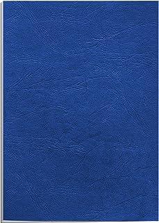 Fellowes 5373902 Delta - Pack de 25 A4 Couvertures de reliure Grain Cuir - Bleu royal