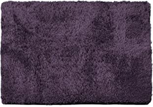 Clara Clark Shaggy Bath Rug with Non-Slip Backing Rubber Super Soft Bathmat, Eggplant, Large - 32 x 48
