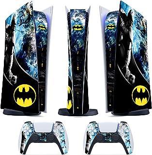 Skin PS5 Digital / Disk- Batman - Cover Adesiva Opaco Satinata HD Antigraffio Rimovibile Made in Italy Faceplates 013