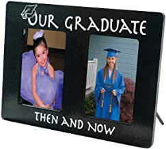 Then and Now Graduation Picture Frame (Wood)