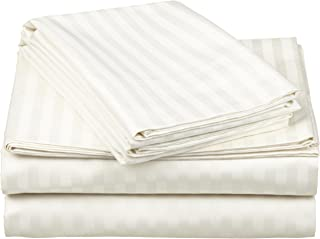 Impressions by Luxor Treasures 100% Egyptian Cotton 650 Thread Count Sheet Set, Ivory, Full, 4-Piece