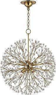 Hudson Valley Lighting 6020-AGB Eight Light Chandelier, 8, Aged Brass Finish