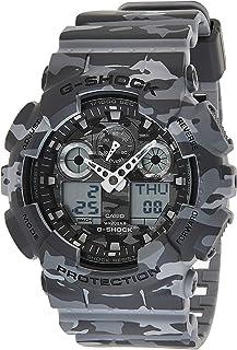 Casio G-Shock Men's Camo Gray Ana-Digi Dial Resin Band Watch - GA-100CM-8A, Japanese Quartz