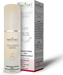 Depigmentation Cream with Anti-Redness Effect - Rosacea and Face Redness Relief - by HerbXtract, Facial Pigmentation Treatment with Essential Oils, All Natural Ingredients 1.2 Fluid Ounces