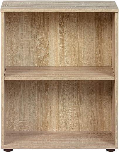 Inter Link Regal Bücherregal mit 2 Fächern Standregal Holzregal in Sonoma-Eiche Nachbildung