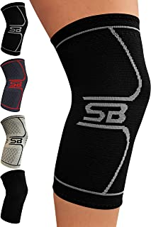SB SOX Compression Knee Brace - Great Support That Stays in Place - Perfect for Recovery, Crossfit, Everyday Use - Best Treatment for Pain Relief, Meniscus Tear, Arthritis, Joint Pain, ACL/MCL Injury