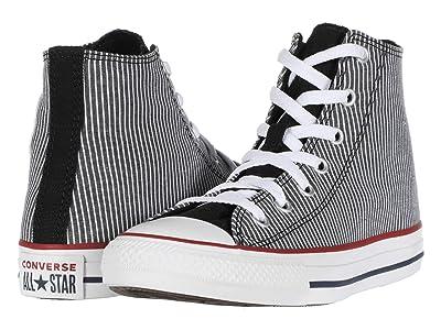 Converse Kids Chuck Taylor(r) All Star(r) Pinstripe (Little Kid/Big Kid) (Black/Garnet/White) Boy