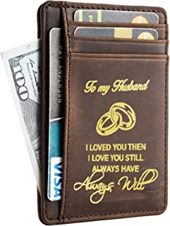 Wife To Husband Father Mother to Son Gift Best Anniversary Christmas Birthday Gifts Slim Wallet