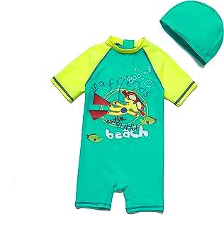 Bonverano(TM Baby boy UPF 50+ Sun Protection S/S One Piece Kids Sunsuit with Zipper