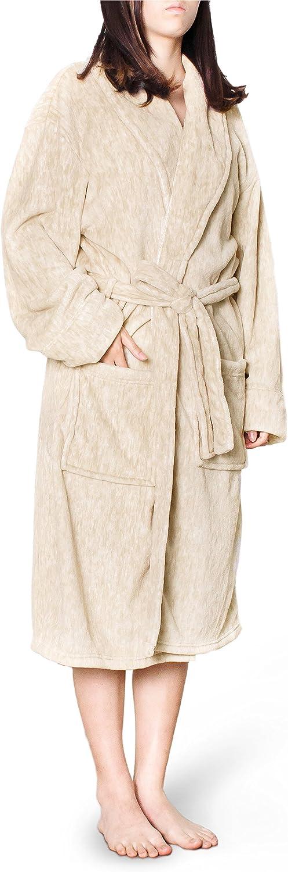 PAVILIA Women Plush Warm Soft Fleece Robe   Shawl Collar Luxurious Microfiber Lightweight Bath Spa Robe