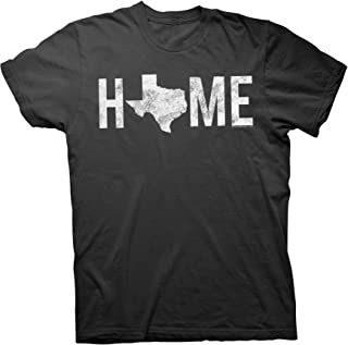 ShirtInvaders Texas is Home - Proud Texan Lone Star State Distressed T-Shirt
