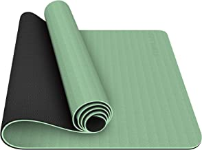 TOPLUS Yoga Mat - Classic 1/4 Inch Thick Pro Yoga Mat Eco Friendly Non Slip Fitness Exercise Mat with Carrying Strap-Worko...