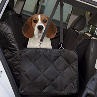 Dog Car Seat Covers for Back Seats, Standard Size - Waterproof, Protective Hammock Cover for Cars, Trucks, SUV - Scratch-Proof, Heavy-Duty Interior Liners and Protectors for Pets