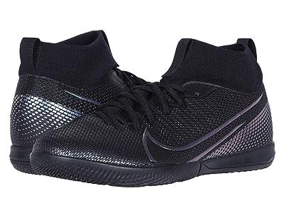 Nike Kids Jr Superfly 7 Academy IC Soccer (Little Kid/Big Kid) (Black/Black) Kids Shoes