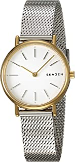 Skagen SKW2729 Reloj para Mujer, Extensible, Acero Plata, Caratula Plata, Análogo