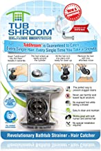 TubShroom Revolutionary Bath Tub Drain Protector Hair Catcher/Strainer/Snare Black Chrome
