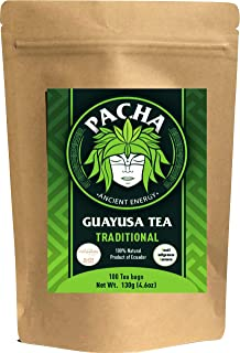 Sponsored Ad - PACHA GUAYUSA TEA BAGS - 100 Tea Bags | High Natural Caffeine | Clean Energy | Healthy Energy | Coffee, Yer...