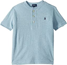 Featherweight Cotton Mesh Henley (Little Kids/Big Kids)