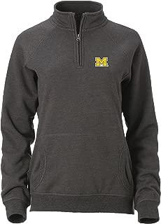 Ouray Sportswear NCAA Michigan Wolverines Women's Dee-lite 1/4 Zip, Graphite, Medium