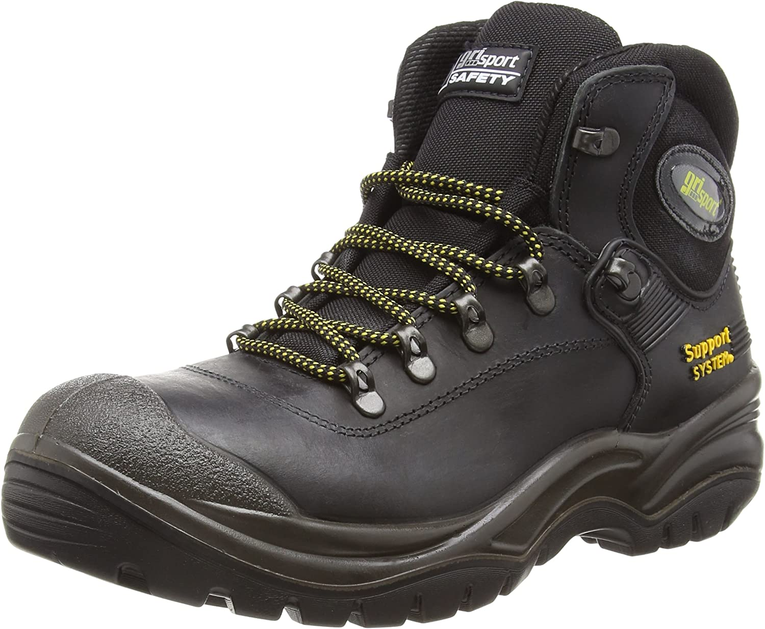greyport Contractor Italian Safety Boot S3-HRO-HI-SRC in Black
