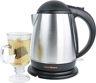 Chef'sChoice 677 Cordless Electric Kettle Easy Pour Lightweight 1500 Watts and Faster than Microwave No Mineral Build-up w...