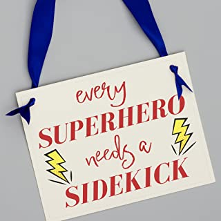 Every Superhero Needs a Sidekick Sign | Baby Announcement for Big Brother or Sister