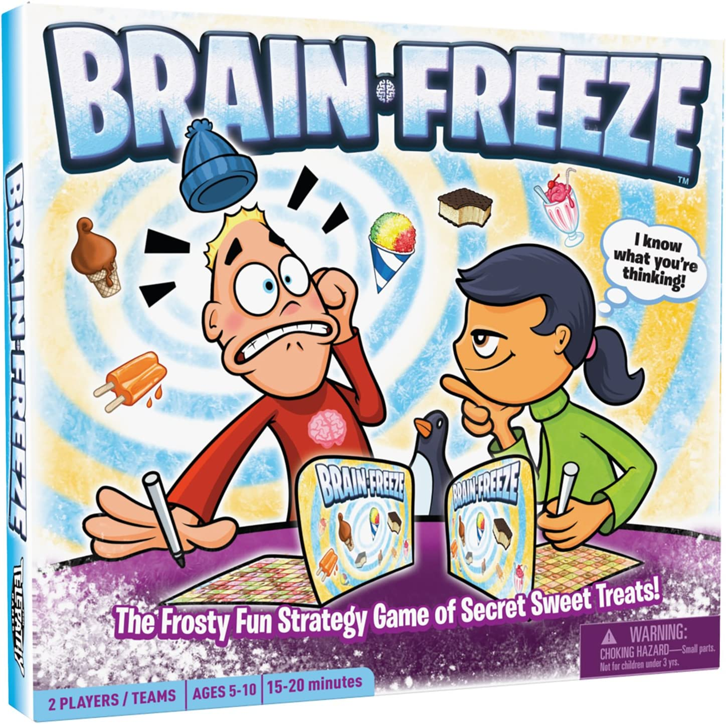 Brain Freeze, Award-Winning Board Game for Kids and Families, Fun and Educational Game to Learn Strategy, Logic, Deduction and Memory, Ages 5 and Up