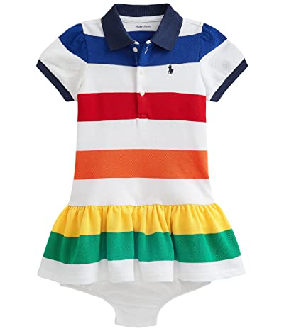 Polo Ralph Lauren Kids Striped Polo Dress Bloomer (Infant)
