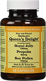 Durhams Queens Delight (Royal Jelly 1000mg, Propolis 600mg, Beepollen 1500mg) in 3 Daily Capsules