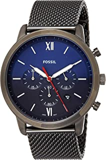 Fossil Men's Neutra Chronograph Smoke Stainless Steel Watch