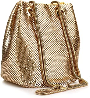 Sequin Evening Handbags Clutch Bucket Bag Shoulder Purses crossbody bags for Women