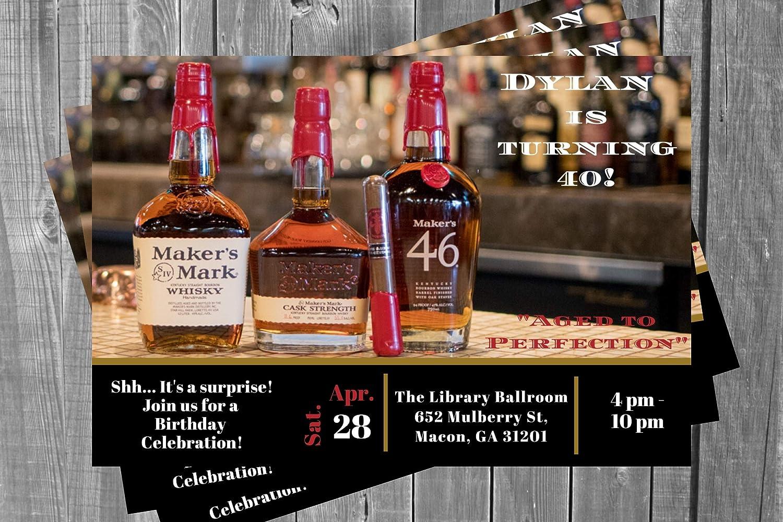 Max 86% OFF Makers Mark Invitation New life Adult Scotch Liquor Mar