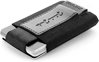 JAIMIE JACOBS Mini Wallet Nano Boy Minimalistic Slim Wallet Thin Credit Card Holder Men (Black)